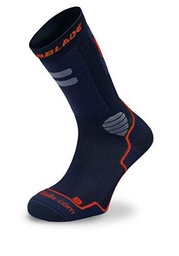Rollerblade Unisex– Erwachsene HIGH Performance Socks, Black/red, L
