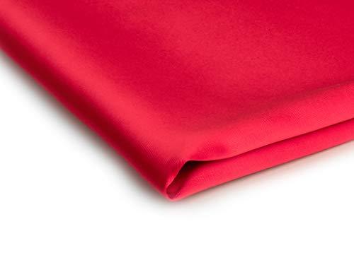 Stoff Satin Dick glänzend Dehnbar - Erhältlich in verschiedenen Farben - 50 x 150cm (Rot Nr 9)