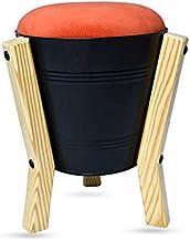 Steel bucket stool (Matt Black)
