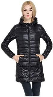 OTL 2019 New Lightweight Down Jacket Long Women's Hooded Jacket Winter Clothing