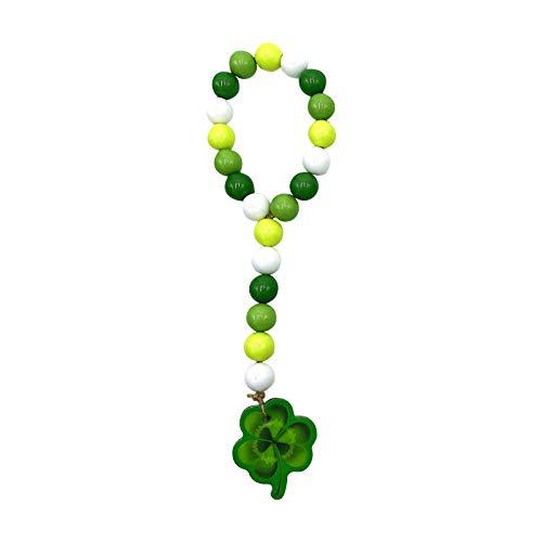 Moent Borla de cuentas de acrlico irlands con cuatro hojas para decoracin de fiesta de San Patricio, decoracin del hogar, trbol de Irlanda (B-1PC)