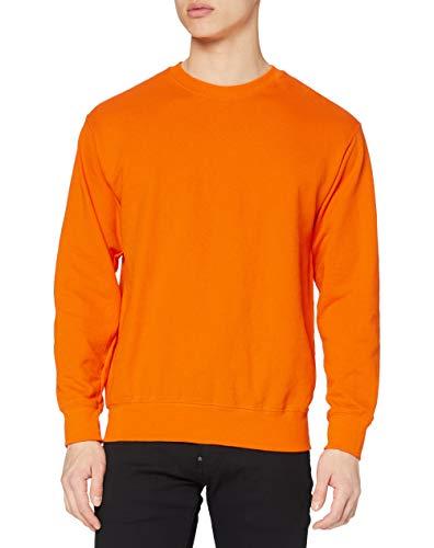 Fruit of the Loom Herren Casual Wear Top leicht Eingesetzter Rundhals Sweatshirt Gr. xl, Orange - Orange