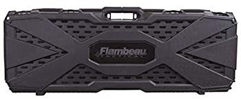 Flambeau Outdoors 6500AR AR Tactical Gun Case with ZERUST - 40 x 12 x 4 in Hard Gun Case with Zerust Magazine Pockets and Straps for Ammunition Firearm Storage Accessory