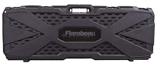 Flambeau Outdoors 6500AR AR Tactical Gun Case with ZERUST – 40 x 12 x 4 in. Hard Gun Case with Zerust Magazine Pockets and Straps for Ammunition, Firearm Storage Accessory