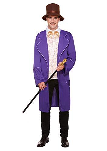 Emmas Kleiderschrank Schokoladenfabrik Kostüm Männer - Perfect Book Day oder Film ihnen ausstatten UK Größe M-XL (Men: Medium, Purple)