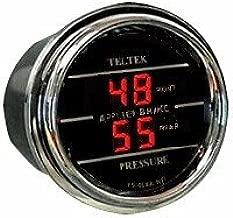 Brake Pressure Gauge (Front and Rear) dual display for Kenworth 2006+ - Bezel: Black - LED Color: Red