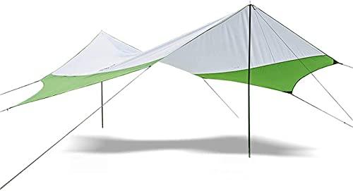Equipo de camping Tienda de campaña ligera Sombrilla Tienda de campaña hexagonal Toldo Sombra ultraligera para exterior Toldo impermeable Toldo de playa Toldo (Color: Rojo Tamaño: 400x350cm) (Color
