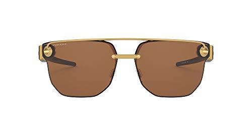Oakley Chrystl Lentes oscuros, Oro Satinado/Tungsteno Premium, 67 para Hombre
