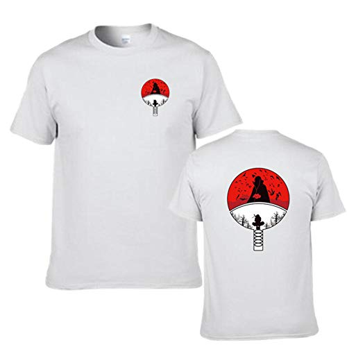 KMNL-Naruto Anime 3D Impresa Camiseta, Sharingan Akatsuki Uchiha Madara Casual Sweatshirts, Color sólido Sencillez Sudadera, Manga Corta, Unisexo-dieciséis_Metro
