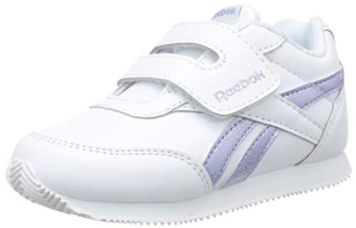 Reebok Royal Cljog 2 KC Zapatillas de Estar por casa, Bebé Unisex, Blanco (White/Silver Sparkle 000), 20 EU