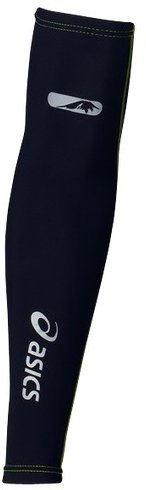 ASICS Fuji Trail - Calentadores de brazos para correr (talla L), color negro