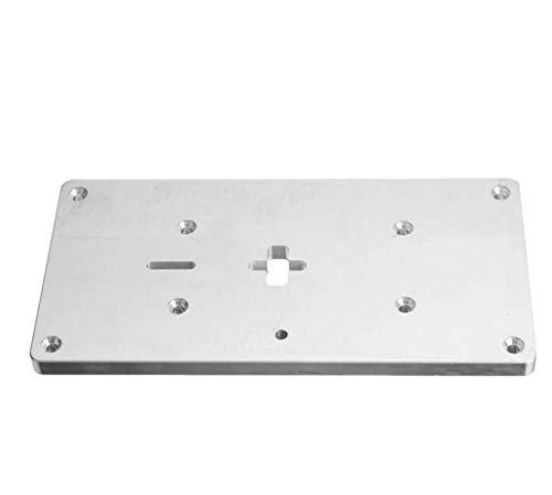 HYCy ® Plaque d'insertion de Table de toupie en Aluminium avec vis de Fixation pour bancs de Travail du Bois