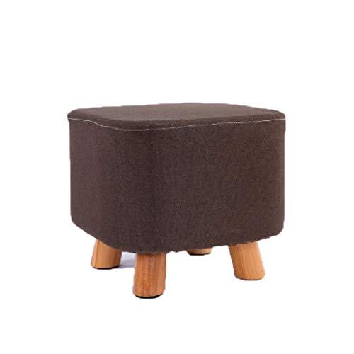 stool Sofá hogar algodón y lino pequeño simple creativo sala de estar pequeño banco perezoso zapatos sillas (color: H)