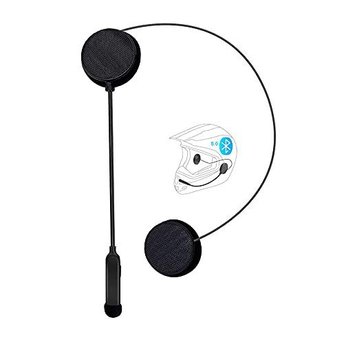 Cuffie Bluetooth 5.0 per casco da moto, Caschi Auricolari Auricolari vivavoce, Controllo del rumore DSP, 12 ore di riproduzione, Cuffie Intercom Sport Microfono per lo sci Arrampicata Ciclismo