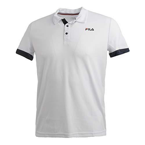 Fila Popey Polo da Uomo, Colore Bianco, Blu Scuro, M