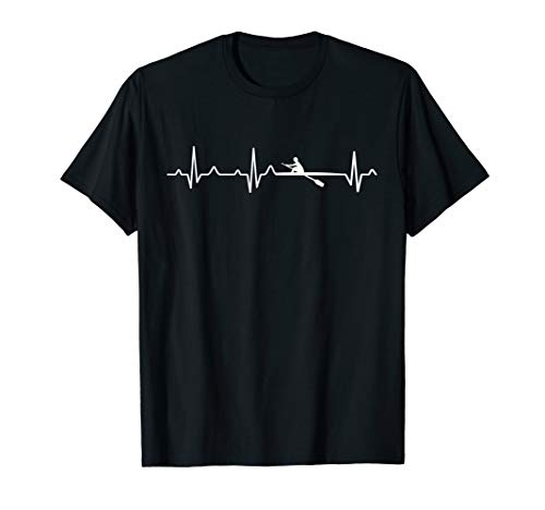 Ich liebe Rudern Herzschlag T-Shirt - I love rowing shirt T-Shirt