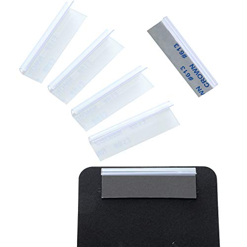 150 Pieces Earring Card Adapter Self-Adhesive Lip Adapter Plastic Lip Hanger for Earring Necklace Card Display (1.5 x 0.5 inch)