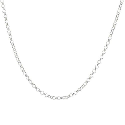 Trendjuwelier huiscollectie 1002204 zilveren ketting jasseron 2,5 mm