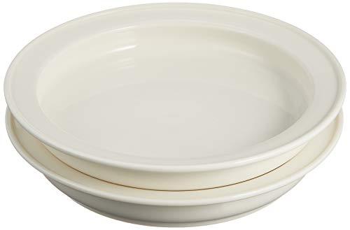 ユニバーサル食器 森正洋デザイン ディープ プレート 19cm (2枚セット) ホワイト NB10-321-2
