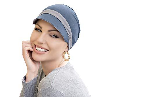 MASUMI Katia Reversible Sommer Caps | mützen damen chemo | Weiche Sonnenhüte für Chemo Damen Bambus Baseball, Einheitsgröße, Grau und silberfarben
