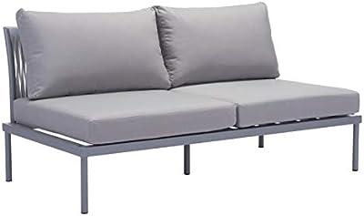 Amazon.com : Elle Decor Paloma Outdoor Sofa, White : Garden ...
