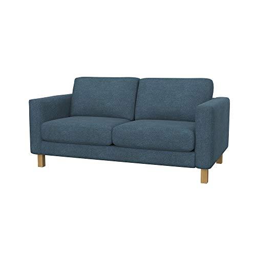 Soferia Funda de Repuesto para IKEA KARLSTAD sofá de 2 plazas, Tela Strong Blue, Azul