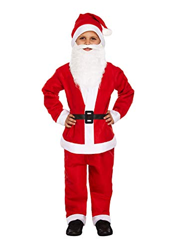 Henbrandt 5 Piece Santa Claus/Father Christmas Fancy Dress Costume (Medium / 7-9 Years)