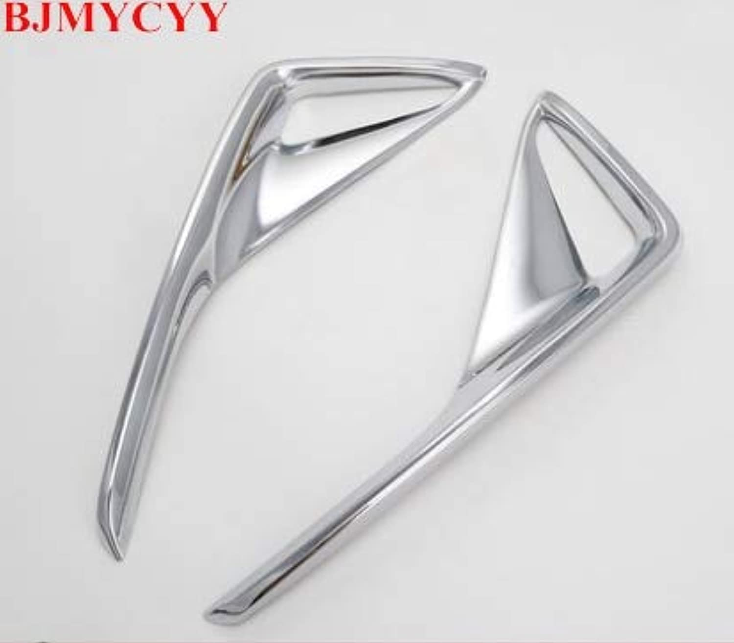 2PCS Set ABS Chrome Rear Fog Light Frame Cover Trim car Styling for Toyota CHR 2016 2017 2018  (color Name  Silver)