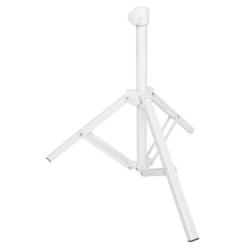 Jenngaoo Pie Plegable de 3 Patas para Parasol, Plegable Ajustable Portátil Triangular de Hierro Sombrilla Soporte de Sombrilla, Soporte de Playa, Base de Metal para Jardín, Camping, Pesca