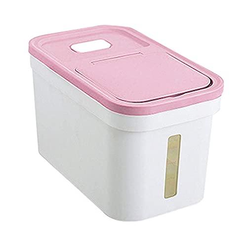 Contenedores de almacenamiento de ahorradores de a Recipiente de arroz extraíble Caja de almacenamiento de alimentos grandes Alimentos secos Dispensador de arroz de harina Recipientes grandes con tapa