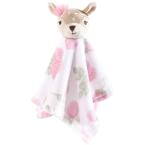 Hudson Baby Unisex Baby Animal Face Security Blanket, Fawn, One Size