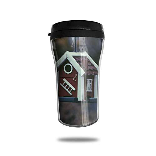 Wiederverwendbare Kaffeetasse aus Holz, Vogelhaus, umweltfreundlich, auslaufsicher, langlebig, für heiße Getränke, Reisen, Wandern