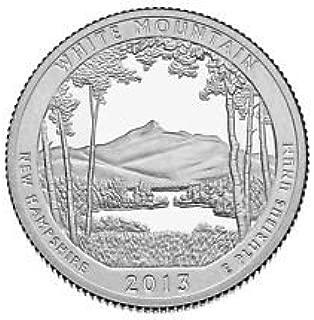 2013 S America the Beautiful New Hampshire White Mountain Silver Proof Quarter PF1