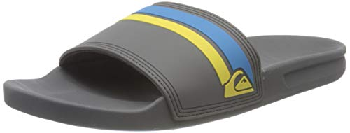 Quiksilver Herren Rivi Slide Peeptoe Sandalen, Grau (Grey/Blue/Yellow Xsby), 43 EU