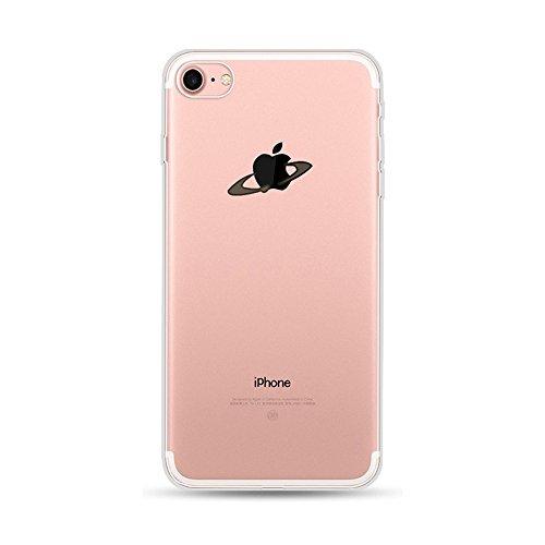 CrazyLemon Schutzhülle für iPhone SE, 5S, 5, transparenter Rückseitenschutz aus flexiblem TPU, klares und kreatives 3D-Muster, ultra dünne, stoßdämpfende Schutzhülle , Saturn, iPhone 6 / iPhone 6S