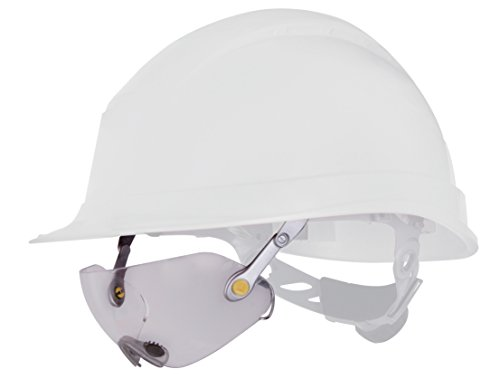 Delta plus - Gafa incolora policarbonato adaptable casco obra aluminio plata