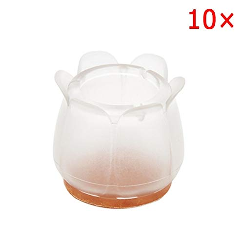 10s Silicone Rectangle Square Round Chair Leg Caps Feet Pads Table Covers Wood Floor s -Style 11