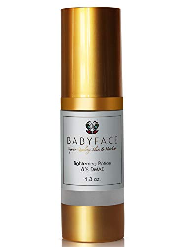 Babyface [Extra Strength 8%] DMAE Tightening Serum, Pore Refining, Face Firming, Anti-Aging with Matrixyl 3000, 1.3 oz.