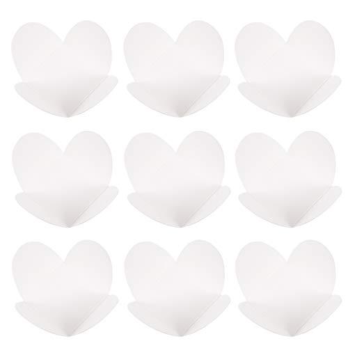 Hemoton 100 Unidades de Bandejas de Papel Kraft para Alimentos Tazas de Papel de Chocolate Envoltorios de Trufa para Chocolate Forros de Cupcake para Galletas Dulces de Postre ()
