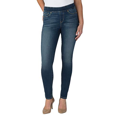 Signature by Levi Strauss & Co Women's Totally Shaping Pull On Skinny Jeans, Harmony, 18 Medium