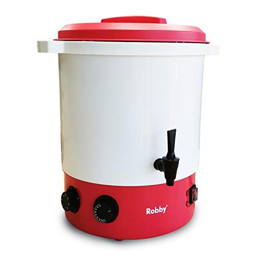 Robby - steri one - Stérilisateur de bocaux électrique en plastique avec robinet et minuteur 28l 2100w