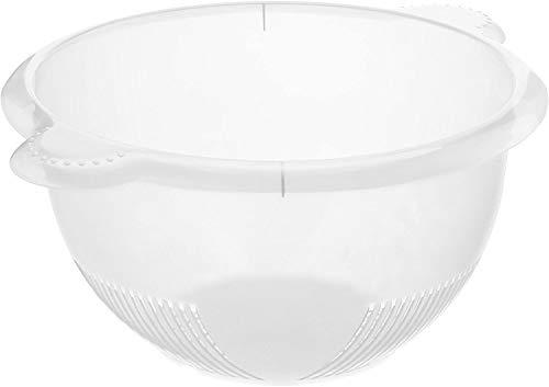 Rotho Rondo Küchensieb, Kunststoff (PP) BPA-frei, transparent, 32,5 x 26,5 x 13,0 cm