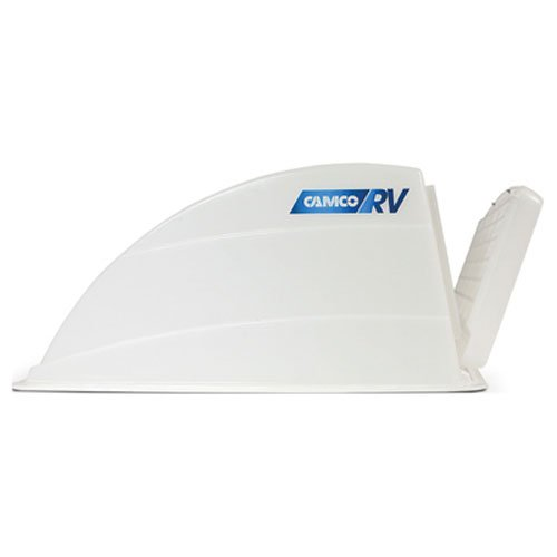 Camco Roof Vent Cover - Allows High Flow Ventilation Into Your RV, Rain or Shine, Easy Installation and Cleaning, Installation Hardware Included - White (40433)