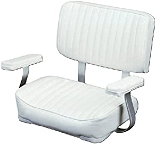 Wise 8WD4000-710 Deluxe Helm Chair with Arm Rests, White