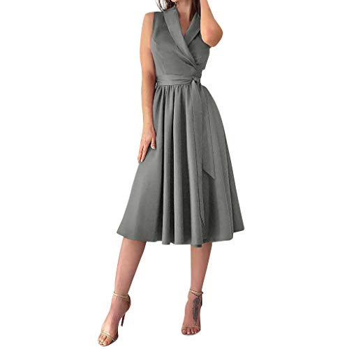 TWIFER Damen Sommerkleid Damen A Linien Kleid Lang Maxikleid Knielange Kleider Lose Tunika Strandmode Strand Partykleid