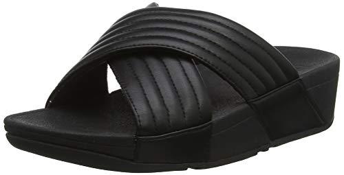 Fitflop Damen Padded Lulu Slide - Pu Sandalen, Schwarz (Black 001), 38 EU