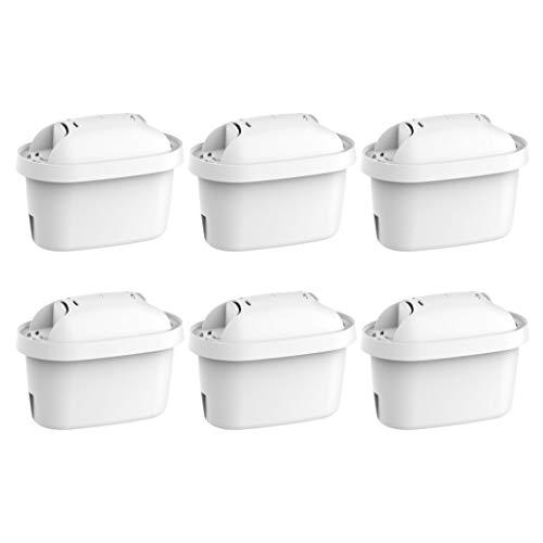 Waterdrop TÜV SÜD, NSF Certificado Cartuchos de filtro de Agua, Compatible con Brita Maxtra, se adapta a Brita Style, Brita Fun, Marella Cool, Mavea Elemaris XL y Brita Flow Water jugs (6)