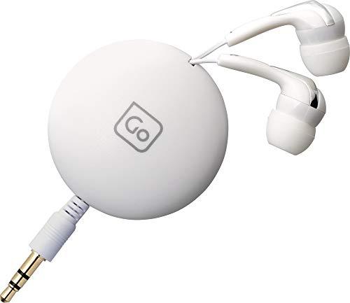 Go Travel 906 - Auricolari retrattili anti groviglio, con clip magnetica