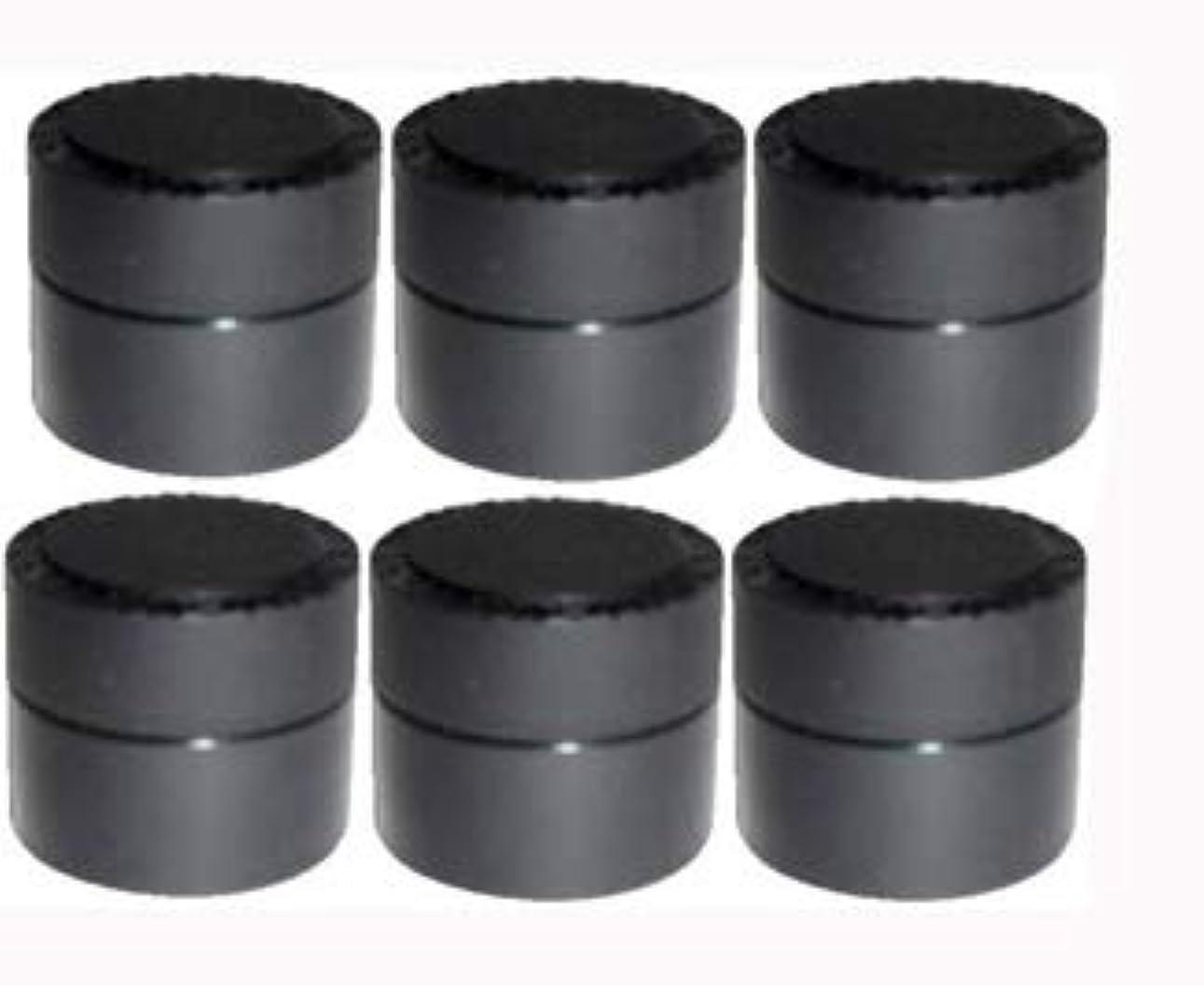 ルール逆さまにゲートウェイメルティージェル MELTY GEL 空容器 黒 (容量5g) 6個