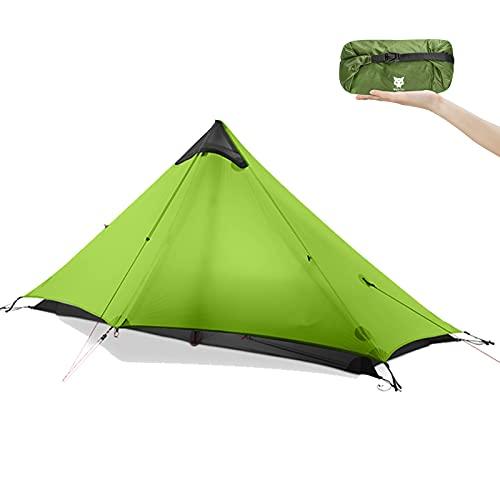 Night Cat Tenda Zaino in Spalla Tenda da Trekking Professionale Ultraleggera Impermeabile per 1 Persona Campeggio Doppio Strato
